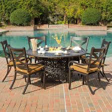 Black Iron Patio Chairs by Exterior Rectangular Propane Fire Pit Table Which Combined With