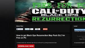 rezurrection map pack call of duty black ops rezurrection map pack dlc free on