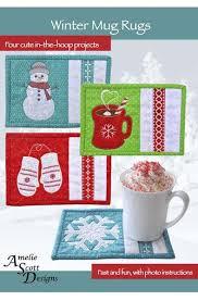 Quilted Mug Rug Pattern Best 25 Mug Rug Patterns Ideas On Pinterest Mug Rugs Christmas