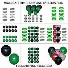 minecraft balloons minecraft bracelets creeper diamond and happy birthday balloons