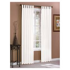 White Tab Top Curtains Shop Style Selections Twill Solid 84 In L Solid White Tab Top