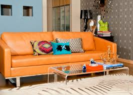 burnt orange leather and fair orange leather sofa home design ideas