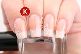 delicate floral wedding nails kerruticles