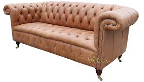chesterfield regency 3 seater leather sofa old english saddle