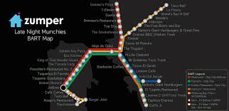 Sf Bart Map The Bay Area Late Night Munchies Bart Map The Zumper Blog