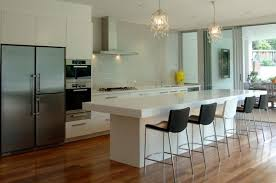 modern white kitchen design ideas cream ceramic loor silver