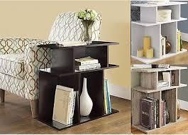 side table modern magazine storage rack 3 shelves wood accent sofa