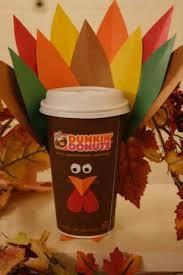 crafting runs on dunkin diy thanksgiving turkey latte cup dunkin