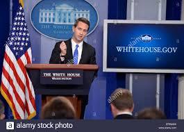 white house principal deputy press secretary eric schultz conducts