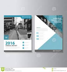blue vector magazine annual report leaflet brochure flyer template