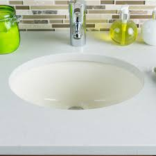 Oval Bathroom Sinks Hahn Ceramic Bowl Oval Undermount Bathroom Sink With Overflow