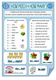 countable and uncountable nouns how much vs how many ela