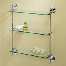 premier chrome triple glass shelf gatco wall mounted shelving