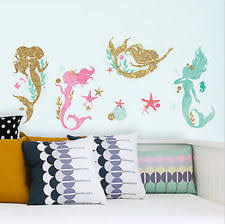 roommates rmk3562scs mermaid peel and stick wall decals with