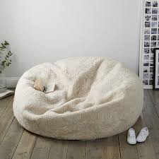 beanbags small u0026 large faux fur the white company uk