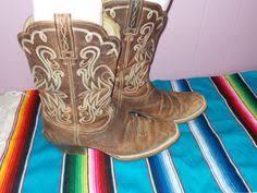 womens cowboy boots size 9 vintage zalo cactus suede leather ankle womens cowboy