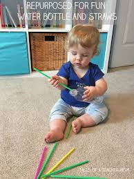 repurposed for fun bottle and straws straws one year old and
