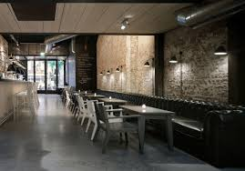Home Fashion Interiors Decorating Luxury Restaurant Design With Brick Wall How To