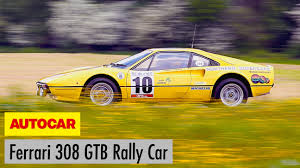 rally ferrari video ferrari 308 gtb group b rally car driven autocar