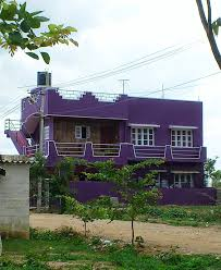outside colour of indian house take diversion the colour purple