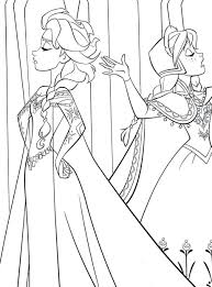 coloring pages kids drawing printable frozen characters free