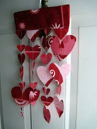 Valentine S Day Hanging Decorations by Easy Fabric Valentine U0027s Hearts To Decorate Your Front Door Sara