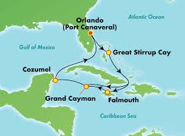 port canaveral map 7 day caribbean from orlando port canaveral