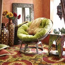 papasan chair cover furniture antique rattan papasan chair with brown cushions on
