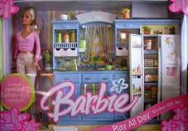 amazon barbie play kitchen gift barbie doll