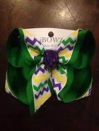 mardi gras bow large mardi gras hair bow purple green and by ransomletterhandmade