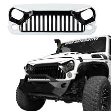 jeep light bar grill white paint angry bird front grill grille for jeep wrangler 11 17