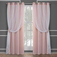 Blush Pink Curtains Pink Curtains Drapes Window Treatments The Home Depot