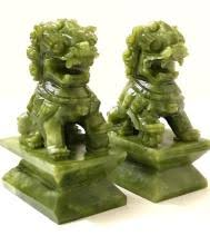 jade lion statue foo dog statues for sale at online auction modern
