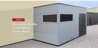 gartenhaus design flachdach design gartenhaus einhausung carport gartana
