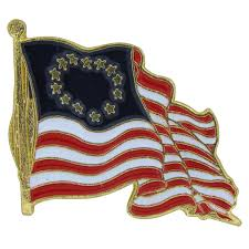 Flag Store Waving Betsy Ross Flag Lapel Pin Americana