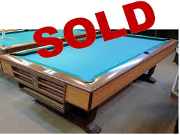 brunswick 7ft pool table sold pre owned brunswick v i p pedestal 8ft over sized pool table