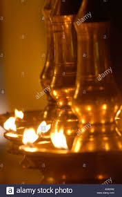 traditional brass oil lamps kerala stock photos u0026 traditional