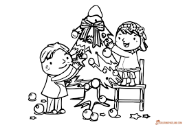 christmas tree coloring pages free to download and print