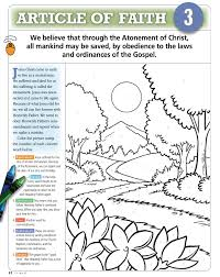tithing coloring page 3rd article of faith teaching lds children