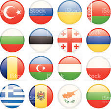 Greece Flag Emoji Round Flag Icon Collection East And Southern Europe Stock Vector
