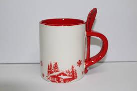 housse de couette montagne chalet mug montagne décor chalet avec cuillère