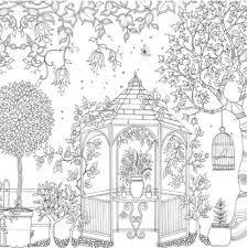 secret garden inky treasure hunt colouring book bags
