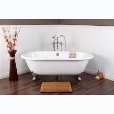 white cast iron ended 66 inch clawfoot bathtub free