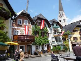 market square hallstatt austria jigsaw puzzle in street view