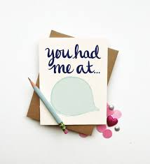 you had me at diy custom personalized quote card chic