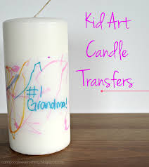 diy mother u0027s day gift kid art candle transfers perfect gift for