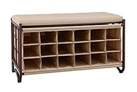 amazon com organize it all bench with shoe cubbies oil rubbed