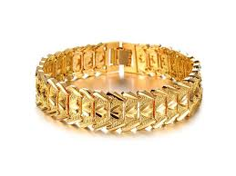 mens charm bracelet images African style 18k gold mens charm bracelet jewelry watches jpg