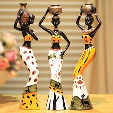 art and craft for home decor 3 african girls home decor resin figurine folk art home decoration