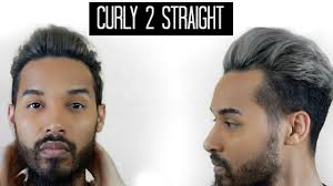 Mad Men Hairstyles For Women by Curly To Straight Men U0027s Hair Tutorial Youtube